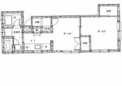 サンハイツ201号室 間取図