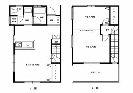 メゾンKAGAMORI102号室 間取図